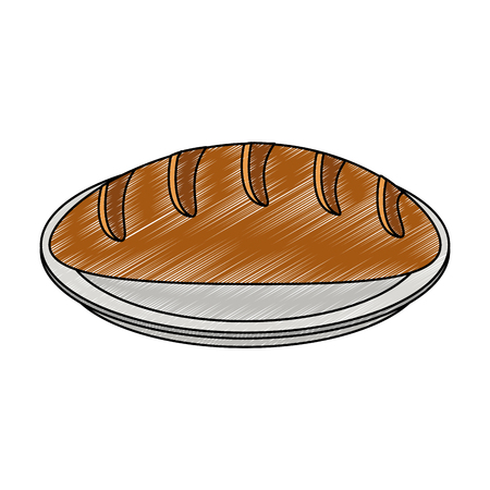 Bread bakery food vector illustration graphic design