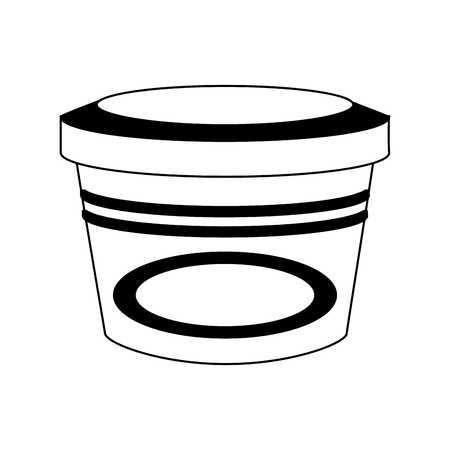Food plastic container vector illustration graphic design