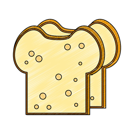 Delicious bread slices vector illustration graphic design 向量圖像