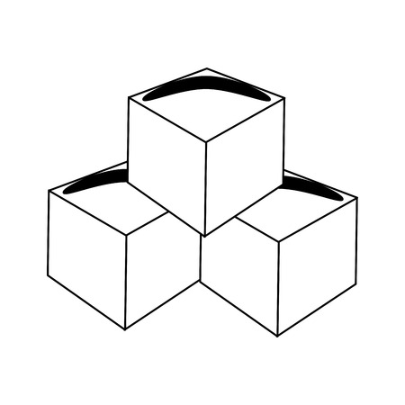 Butter cubes isolated vector illustration graphic design