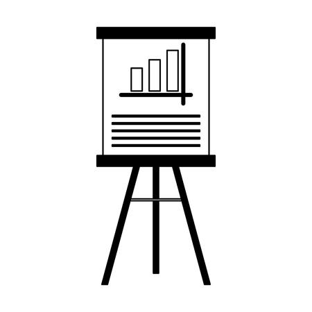 Statistics on whiteboard vector illustration graphic design