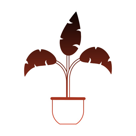 Plant in pot vector illustration graphic design Ilustrace