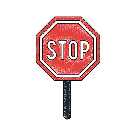 Stop roadsign isolated vector illustration graphic design