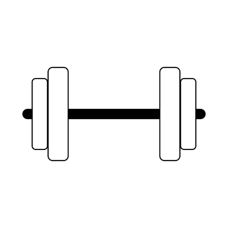 Dumbbell weight isolated vector illustration graphic design Illustration