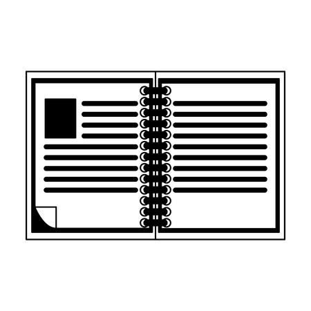 Book open isolated vector illustration graphic design