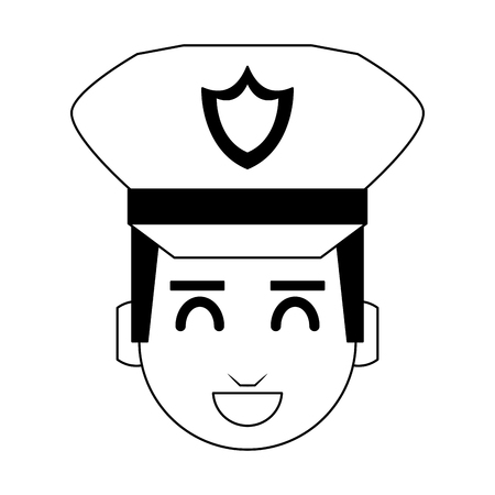 Cute police officer cartoon vector illustration graphic design Ilustrace