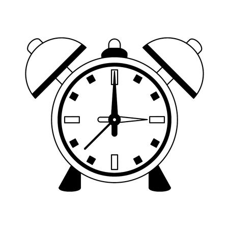 Vintage alarm clock vector illustration graphic design