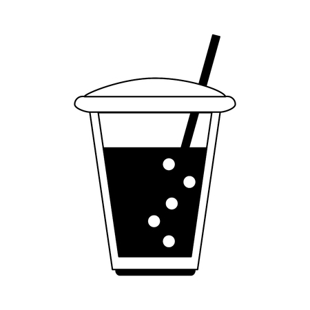 Frappe cup isolated vector illustration graphic design