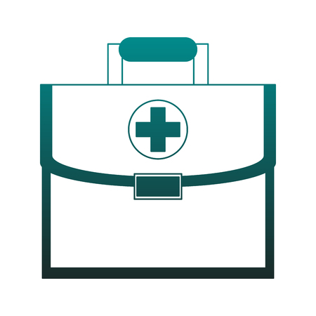 First aids suitcase vector illustration graphic design Ilustração