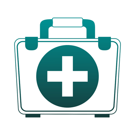 First aids suitcase vector illustration graphic design Vectores