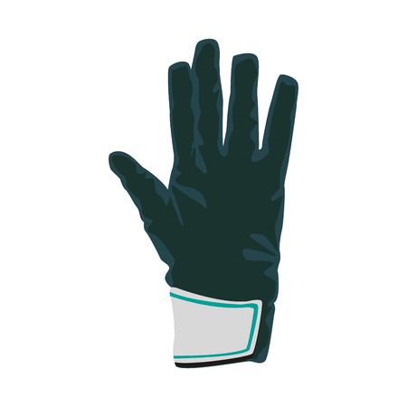 Goalkeeper glove isolated vector illustration graphic design