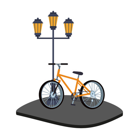 Bike in the city vector illustration graphic design