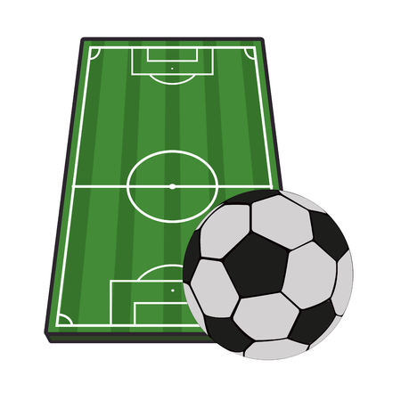 Soccer field topview vector illustration graphic design Иллюстрация