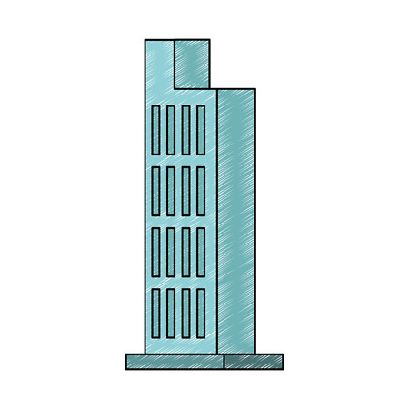 Diseño gráfico del ejemplo del vector aislado del edificio urbano