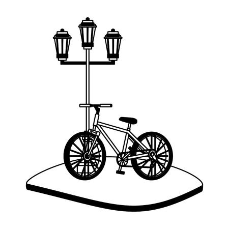 Bike in the city vector illustration graphic design Banco de Imagens - 102531473