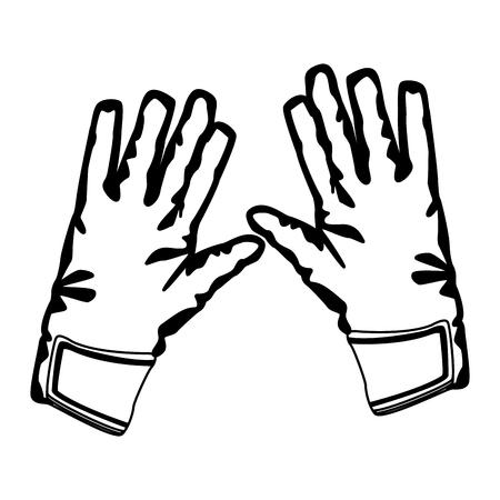 Goalkeeper gloves isolated vector illustration graphic design
