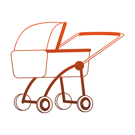 Baby pram isolated vector illustration graphic design Illustration