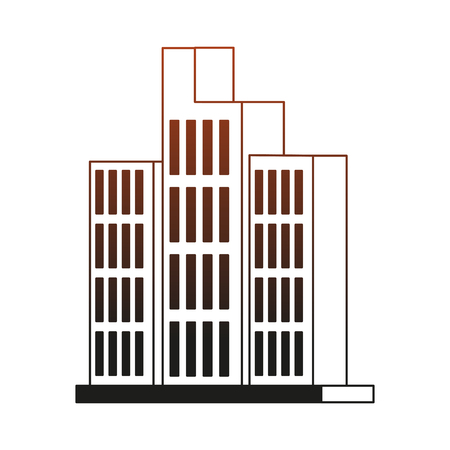 Urban buildings isolated vector illustration graphic design