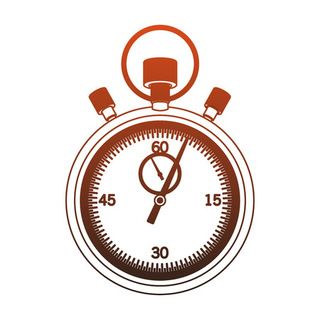 Vintage chronometer isolated vector illustration graphic design