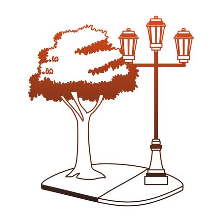 Street lights isolated vector illustration graphic design