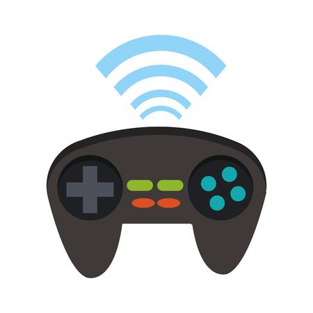 Wireless console gamepad vector illustration graphic design