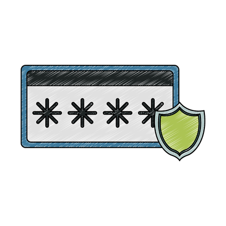 Password security system vector illustration graphic design Vectores