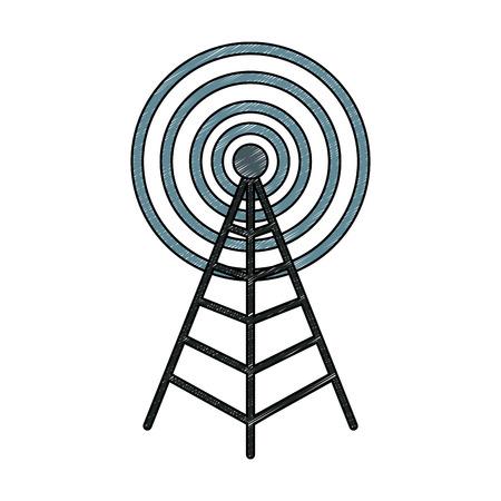 Antenna communication symbol vector illustration graphic design