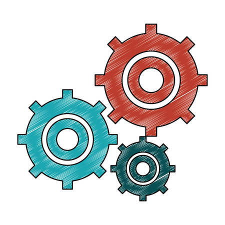Gears working symbol vector illustration graphic design