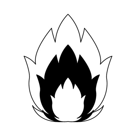 Flamme isolated symbol vector illustration graphic design