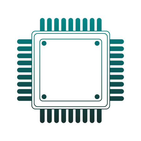 Microchip technology isolated vector illustration graphic design Illustration