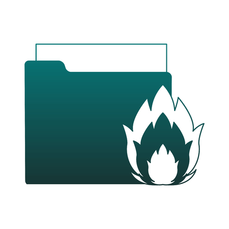 Folder with flamme vector illustration graphic design