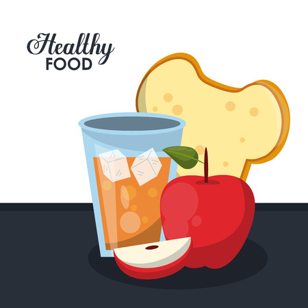 Delicious and healthy breakfast food vector illustration graphic design