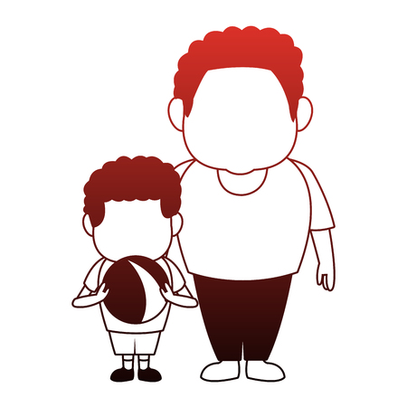 Afro parents with son vector illustration graphic design