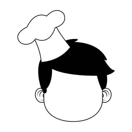 Cute chef boy cartoon vector illustration graphic design Vectores