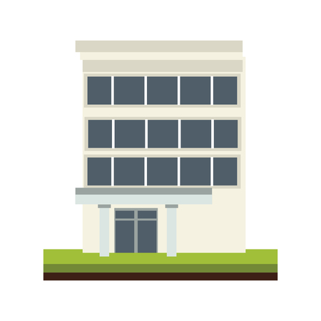 Office  building isolated vector illustration graphic design 向量圖像