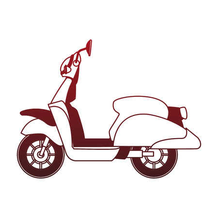 Scooter motorcycle isolated vector illustration graphic design Vettoriali