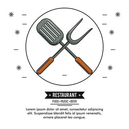 Restaurant graphic with informations and elements vector illustration graphic design