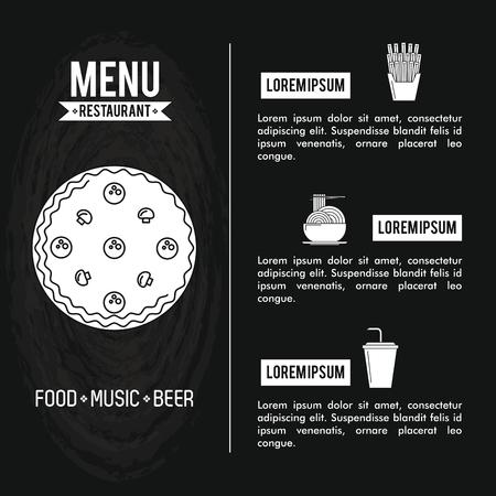 Restaurant menu cover with information vector illustration graphic design Иллюстрация
