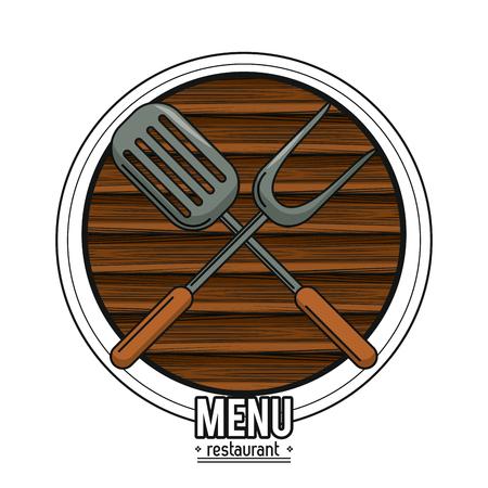 Cutlery and utensil restaurant menu concept vector illustration graphic design