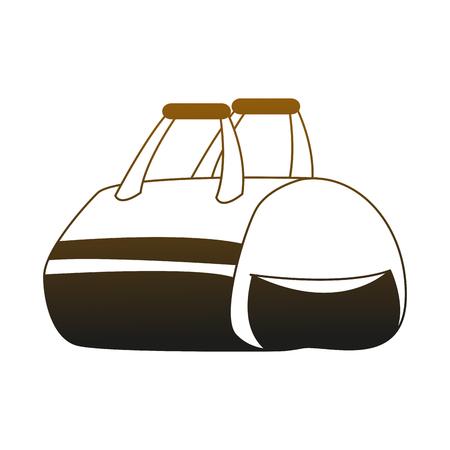 Sport bag isolated vector illustration graphic design Vettoriali
