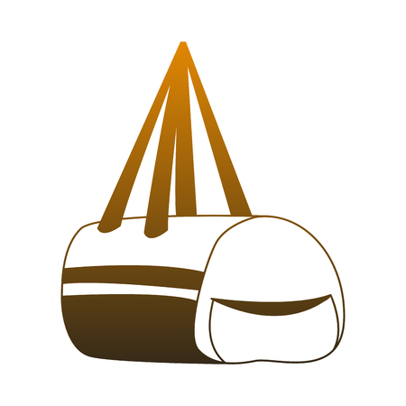 Sport bag isolated vector illustration graphic design Stock Illustratie