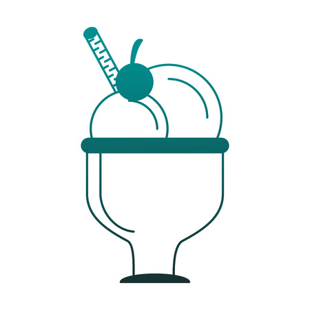 Ice cream cup isolated vector illustration graphic design