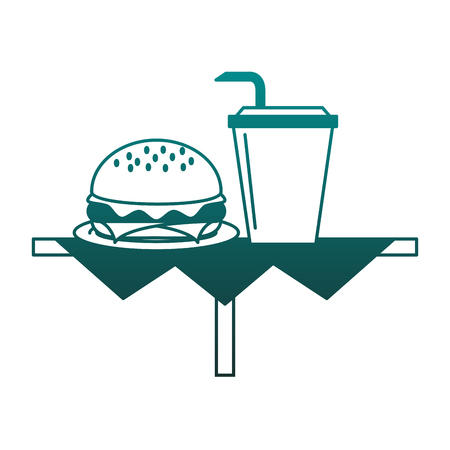 Hamburger and soda cup vector illustration graphic design