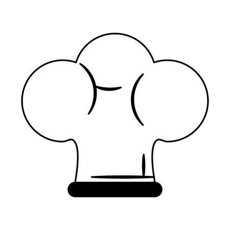 Chef hat symbol vector illustration graphic design