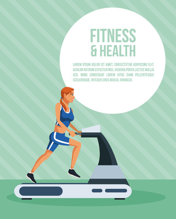 Fitness and health woman infographic vector illustration graphic design Illustration