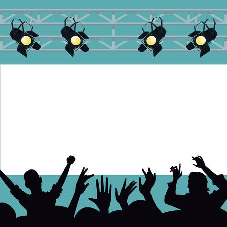Disco interior stage scenery vector illustration graphic design Ilustração