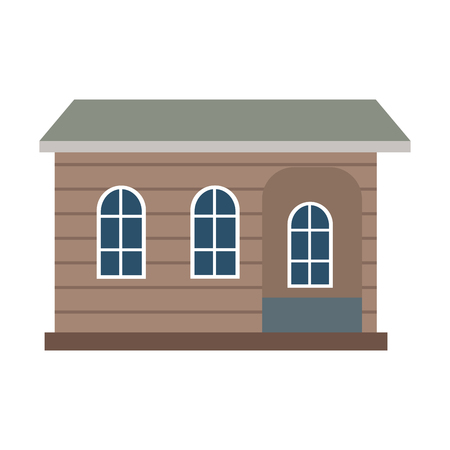 Wooden house real estate vector illustration graphic design 矢量图像