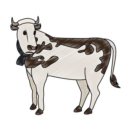 Dibujos animados de vaca lechera
