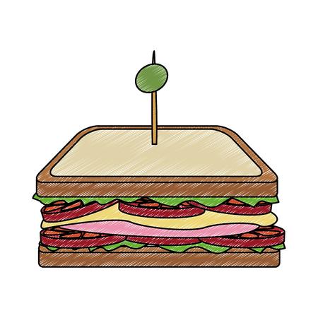 Delicious sandwich food