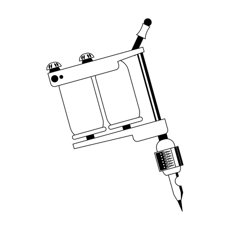 Tattoo machine isolated vector illustration graphic design Illustration